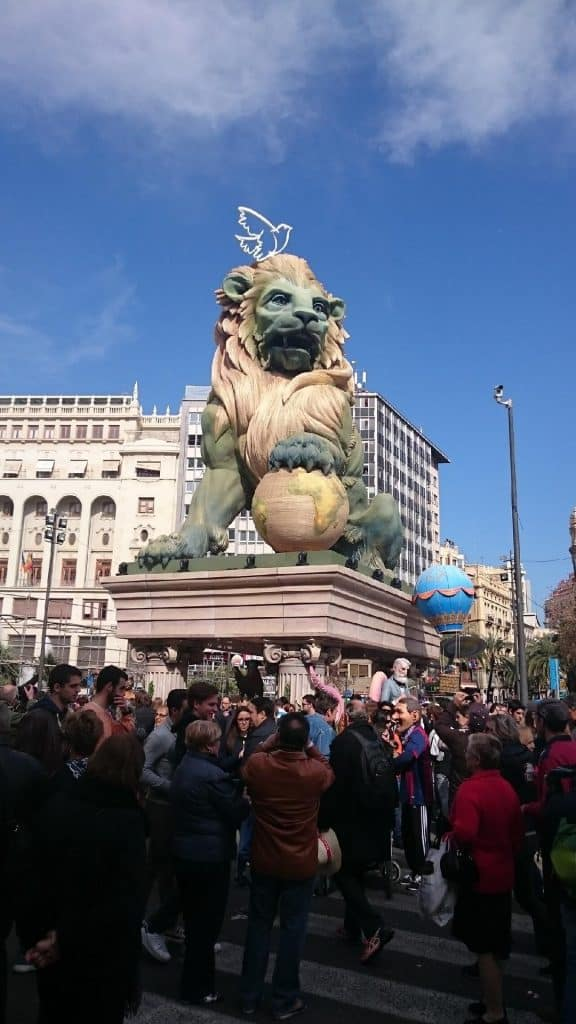 Photo fallas Place Ayuntamiento Valencia