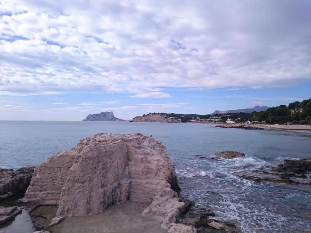 Vue du Peñón à Moraira
