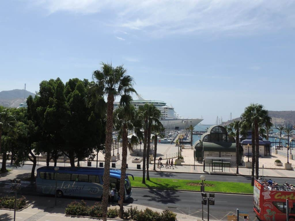 Carthagène vue du port